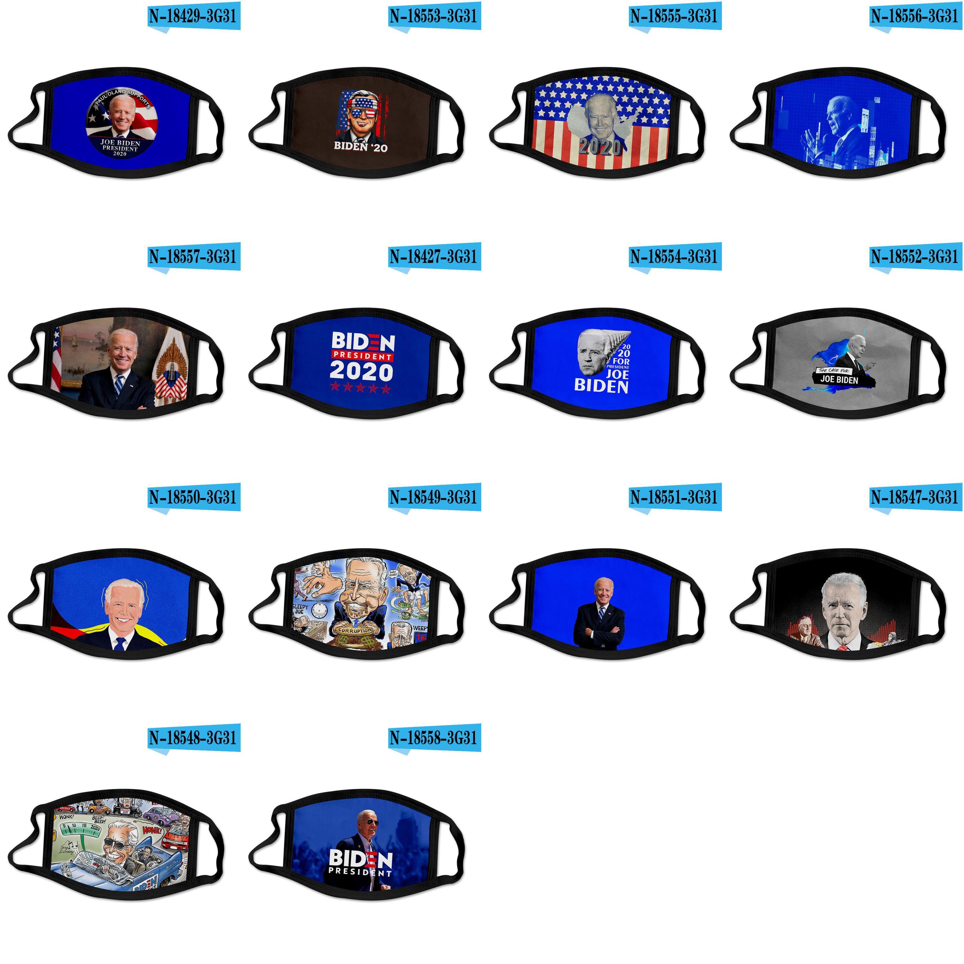 DHL 2020 Designer Gesichtsmaske Joe Biden US-Präsidentschaftswahlkampf Polyestergewebe Masken grenzüberschreitende Unterstützung benutzerdefinierte Maske