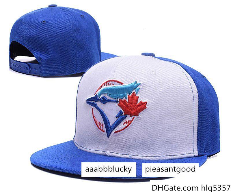 Tapas de una pieza sombrero del logotipo del equipo del Snapback de los hombres del bordado del deporte de béisbol Toronto planas con ala especial de Hip Hop chapeaus marcas