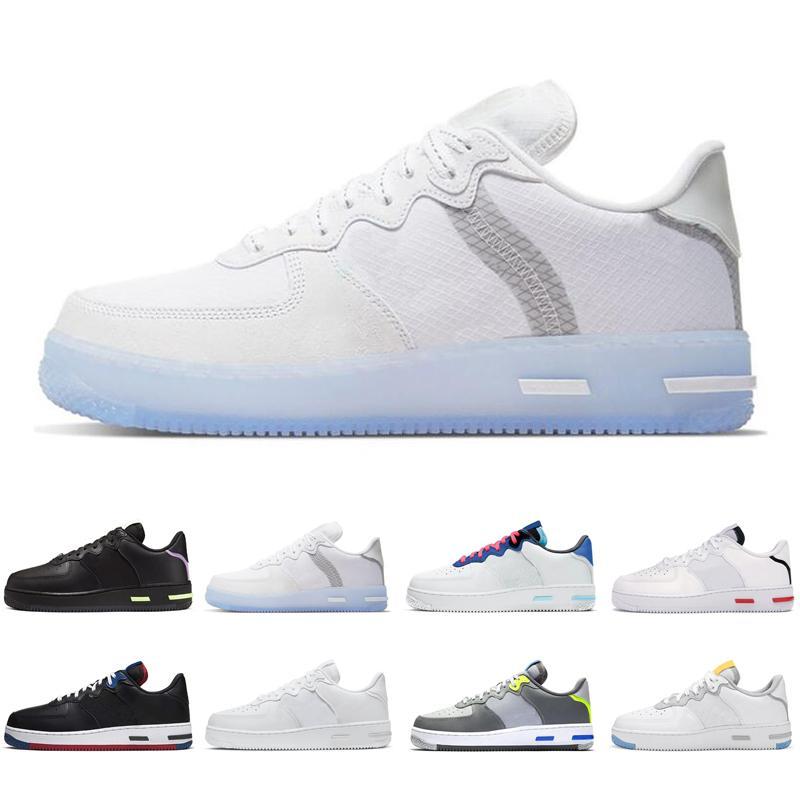 Nike hava kuvvetleri hava kuvvetleri kuvvetler 1 af1 tepki 1 erkek kadın koşu ayakkabı Işık kemik Beyaz Siyah Kırmızı Duman Gri açık erkek bayan eğitmenler spor sneakers koşucular
