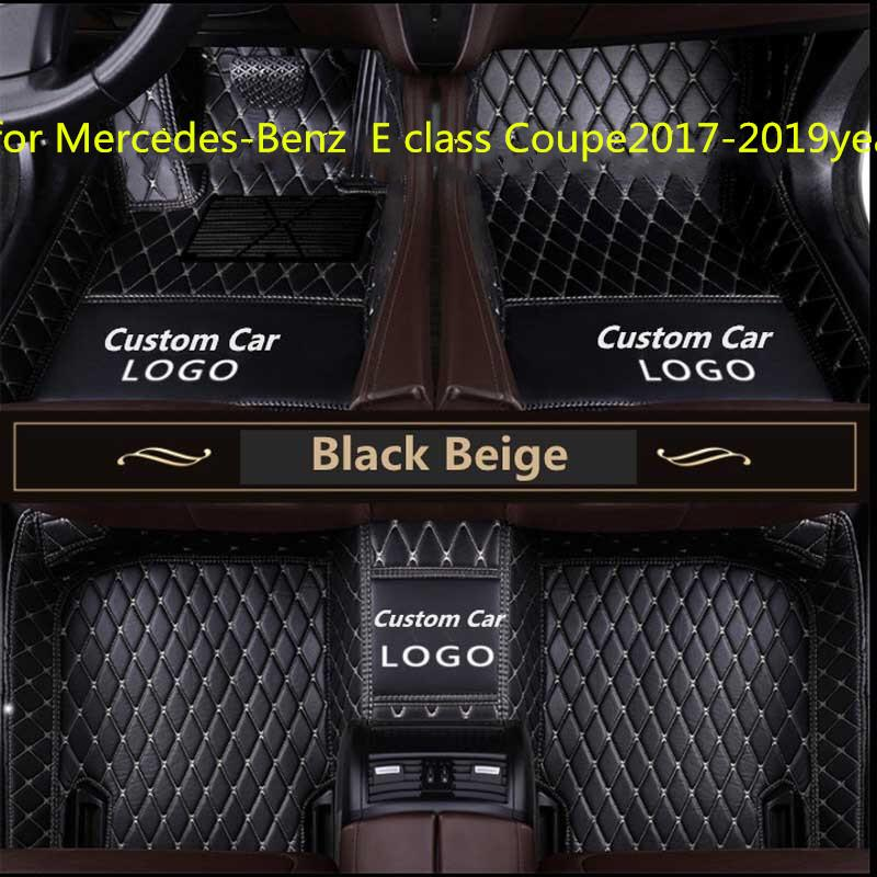 Tailor made car floor mat waterproof PU leather material, suitable for Mercedes-Benz E class Coupe2017-2019year