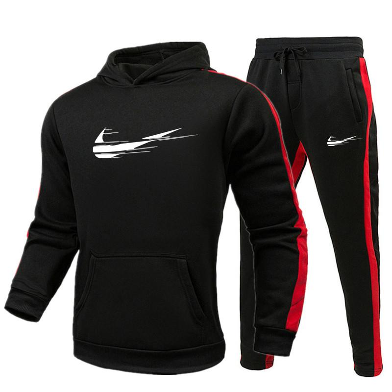 Мужские дизайнерские Tracksuit Sportwear весна осень Длинные рукава Повседневная куртки повседневные Jogger Брюки Homme женщин одежда 2 шт набор Tracksuit