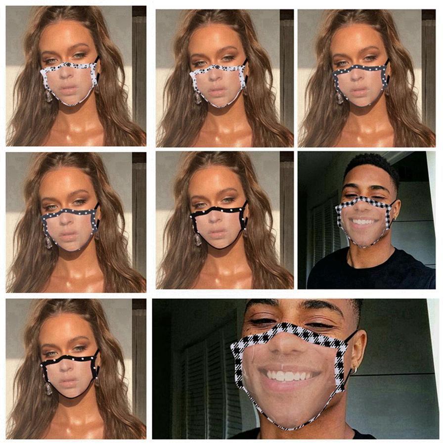 Прозрачная маска моющихся многоразовых масок против пыли Антифога ушной Четких дизайнерских масок партии маской для женщин для мужчин взрослых AHD378