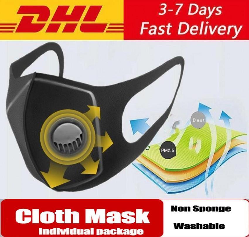 Máscara de Estados Unidos de la Lucha contra el polvo con la respiración PM2.5 válvula Filtros Máscaras Ciclismo Cara boca de algodón respirador reutilizable lavable anti niebla Haze Adultos