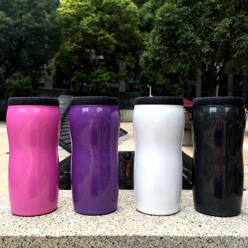 12 Unzen Glitter-Dosenkühler Edelstahl-Becher Bierflasche Kalt Keeper Can Vakuum Isolierflasche Isolierung Dosen Kostenloser Versand