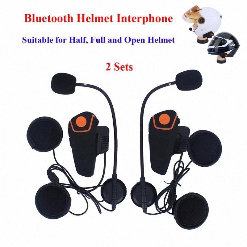 BT-S2 Intercom Moto Moto senza fili di Bluetooth del casco citofono Comunication auricolare con la funzione di FM BT del casco Cuffie FXzS #