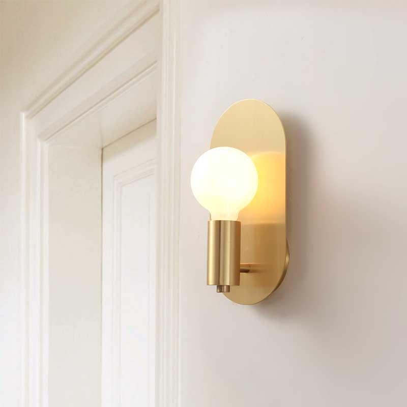 Современная роскошь E27 золото Металл Мини Настенный светильник Настенный светильник Гостиная Столовая Спальня Рядом с освещением Простой Крепеж WA014