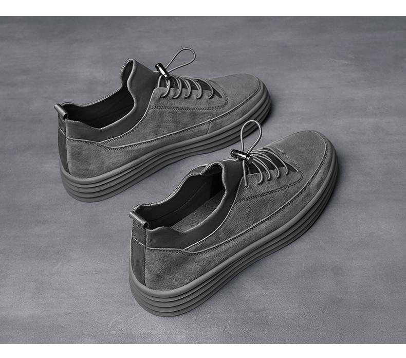2019 scarpe primavera moda inferiori spessi scarpe alto bordo per la versione sudcoreana di giovani studenti di sesso maschile moda con scarpe casual 05