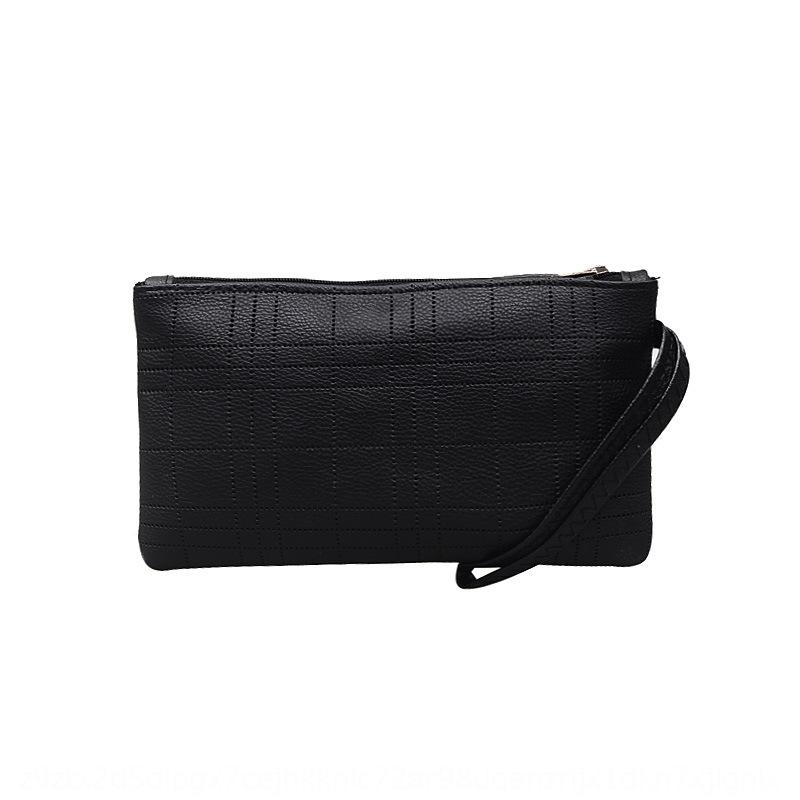 Corea del embrague de nylon de color sólido de las mujeres la suave MINI / MINI horizontal pequeña bolsa cuadrada pequeña bolsa cuadrada