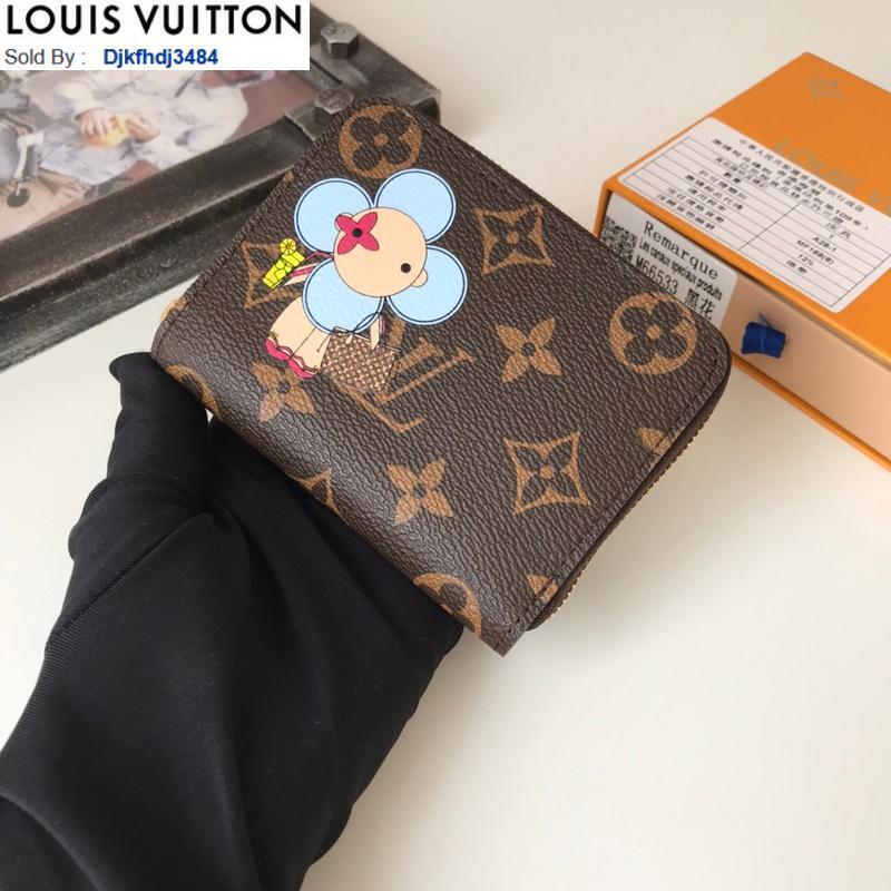 MUAC M69055 flor de Sun Zip monedero mujeres reales de cuero larga carpetas de cadena carpeta de la tarjeta Clave bolsas Casos titulares de teléfonos CLUTCHES MONEDERO