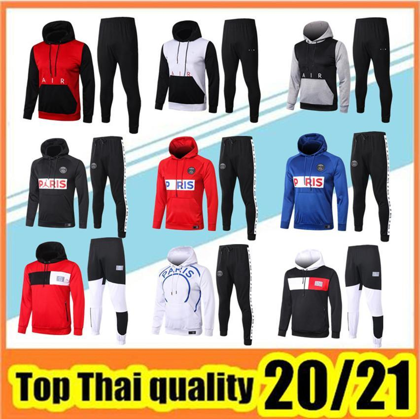 2020/21 paris hoodie soccer jacket 20/21 MBAPPE CAVANI tracksuit football jacket VERRATTI Survêtement Jordam X hoodie Football sweater
