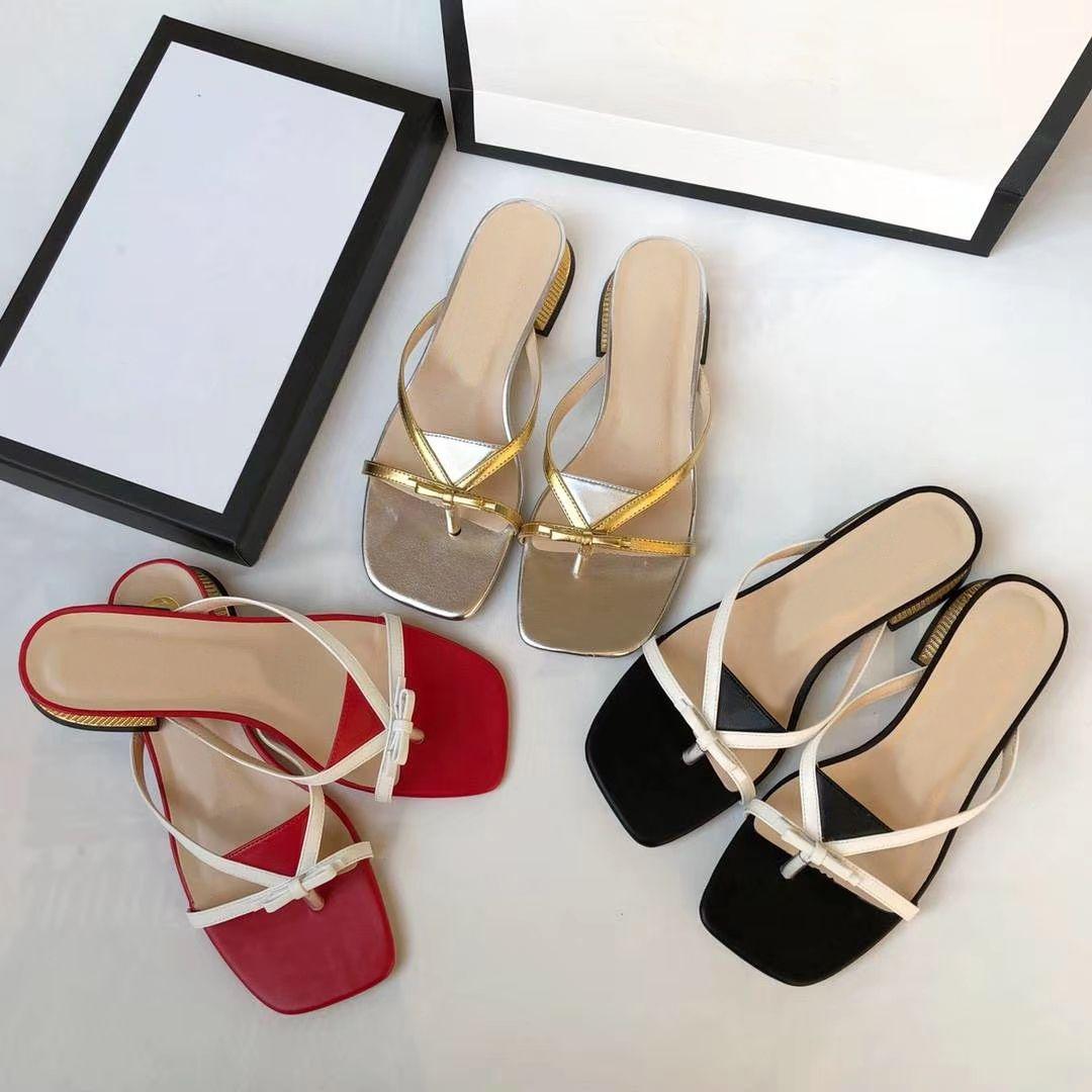 Mode für Frauen Thong Sandalen Bogen-Knoten-Sommer-Gladiator-Sandalen Damen Peep Toe Pumps Kristall Breiten Absatz Pantoletten Schuhe