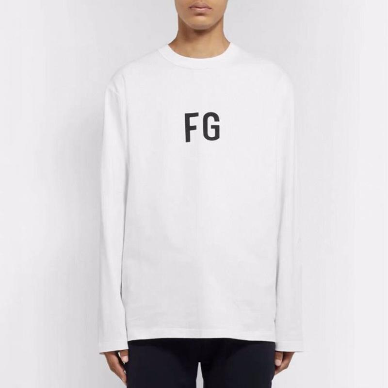 quente 20SS FG 6TH Jerry Long Sleeve T-shirt High Street camisola Clássico Impresso Crewneck Pullover Homens Mulheres Sweater Outdoor