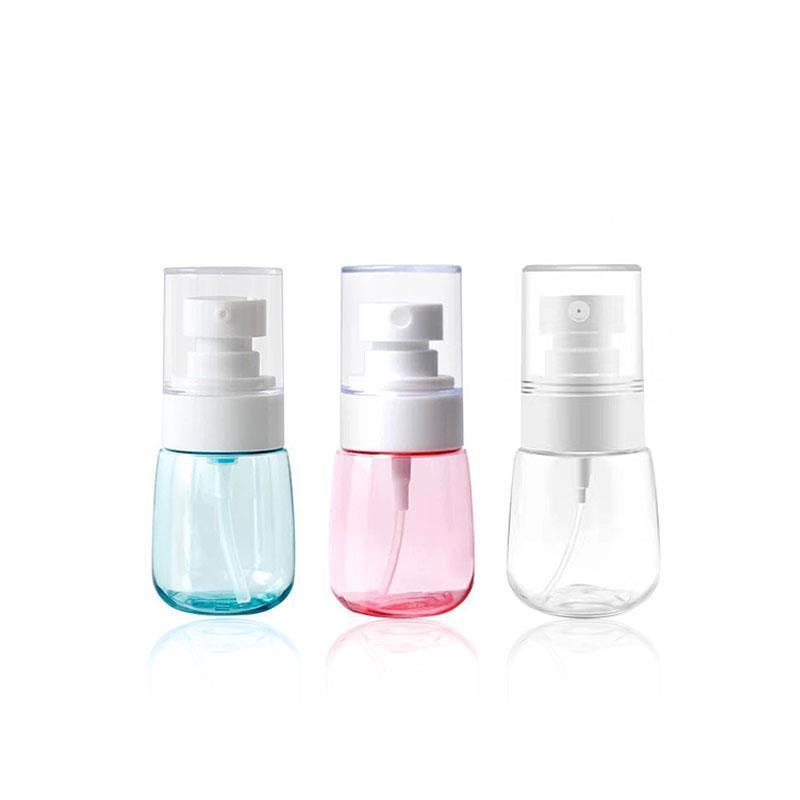 30мл 60мл 80мл 100мл путешествия портативный суб-бутылка сверхтонкой бутылки распыляют спрей бутылки лосьон насос для тонера дезинфектор руки дезинфицирующим гелем