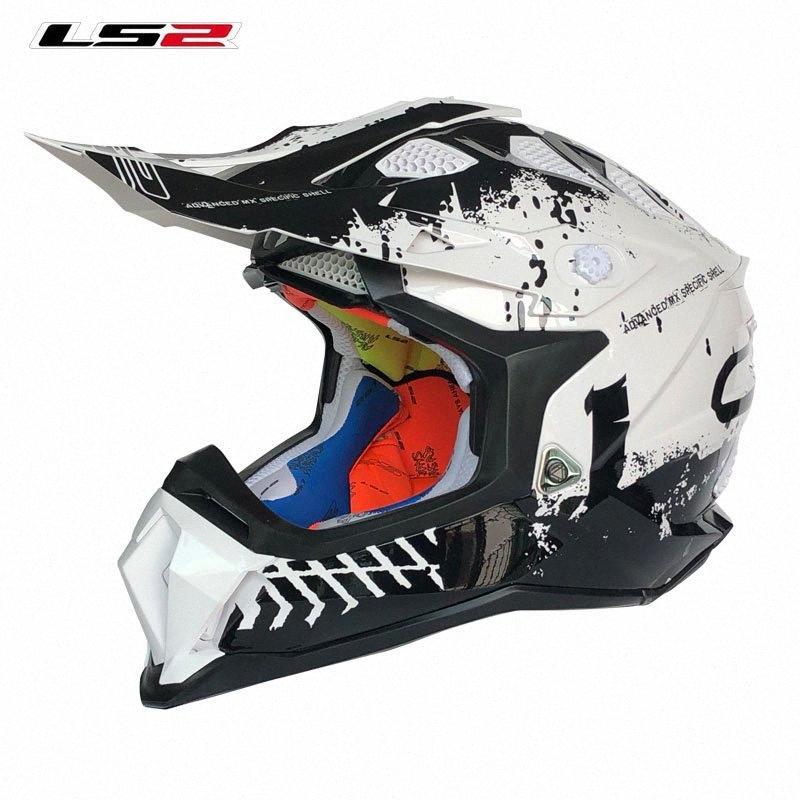 Original LS2 MX470 Motorcycle Helmet ATV Dirt Bike Off Road Racing Casco Moto Capacete LS2 Motocross SUBVERTER KPA yHD8#