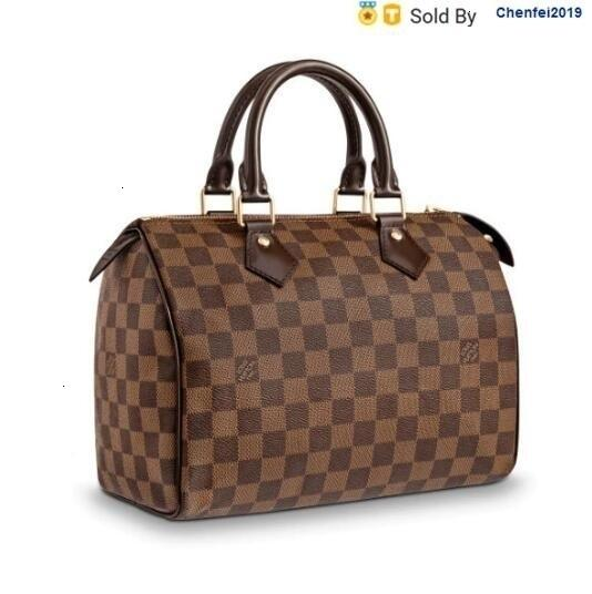 Couro chenfei2019 JPZ1 Speedy25 Handbag Canvas Strapless M41109 Totes Bolsas de ombro Mochilas Carteiras Purse