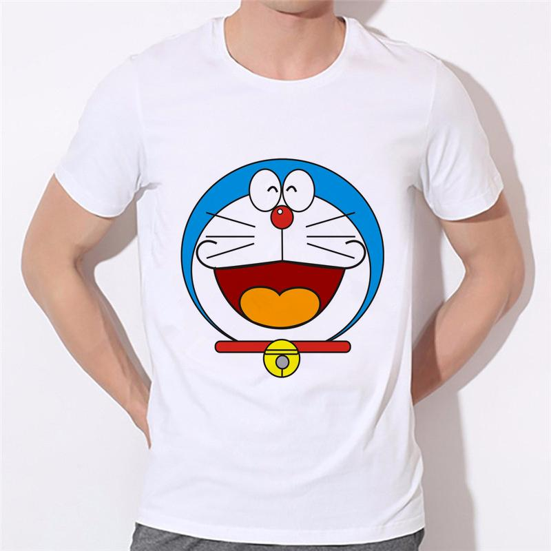 Lojas de fábrica de manga curta homens camisa Doraemon homens dos desenhos animados do verão T T camisa casual família pode ser personalizado