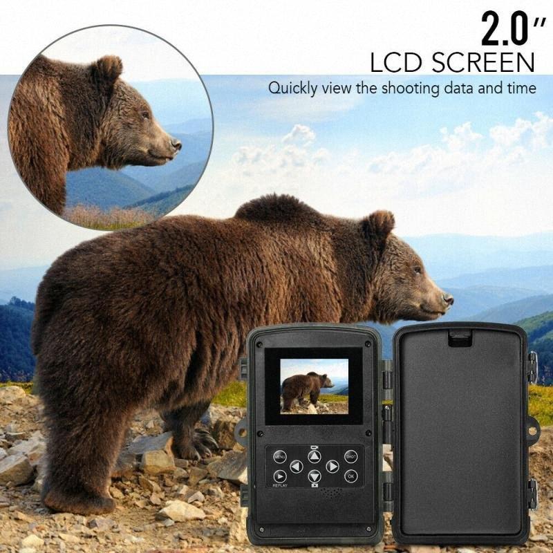 0.3с Trigger Time Wild Camera HC801A 5000mAh батареи Li 1080P Охота камера 16MP Trail IP65 Фото Ловушка f8vG #