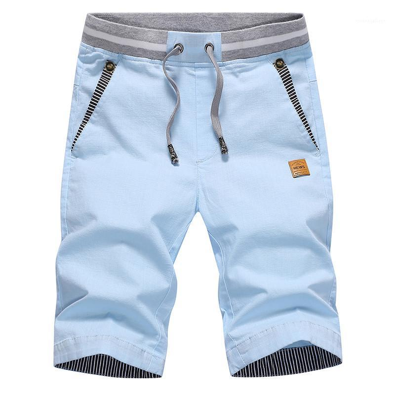 Beiläufige Art und Weise Herrenshorts Herren Designer Sommer Shorts mit Taschen Solid Color Kordelzug beiläufige lose Shorts