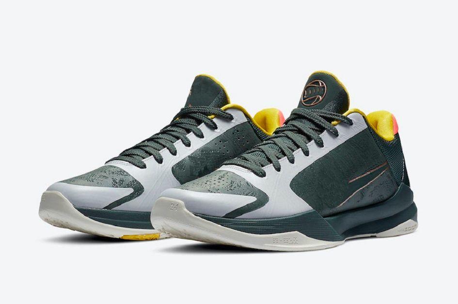 الأحذية مامبا الاطفال Eybl الغابات الخضراء للبيع مع صندوق حار جديد رجل إمرأة حذاء كرة السلة متجر US4-US12