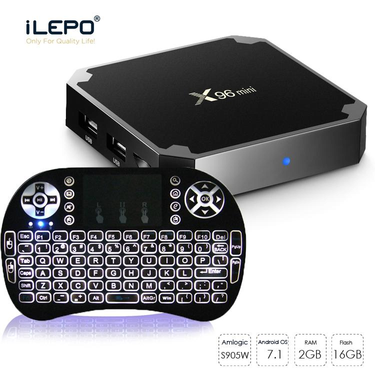 X96 mini Smart TV Box Amlgoic S905W Android 9.0 TV BOX With Wireless Mouse Keyboard Quad Core 4K Wifi Media Player