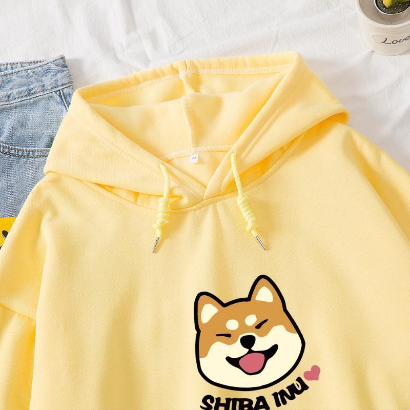 2020 primavera de Kawaii de gran tamaño caliente mujeres de la camiseta de Kpop sudaderas con capucha de algodón Harajuku lindo para las niñas Negro Blanco Streetwear