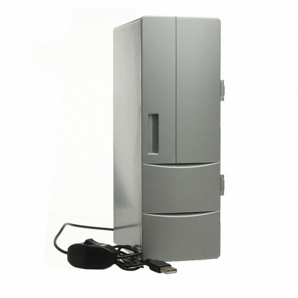 Vehemo mini refrigerador del USB del calentador del refrigerador escritorio de enfriamiento del refrigerador de bebidas bebida blanca S2hs #