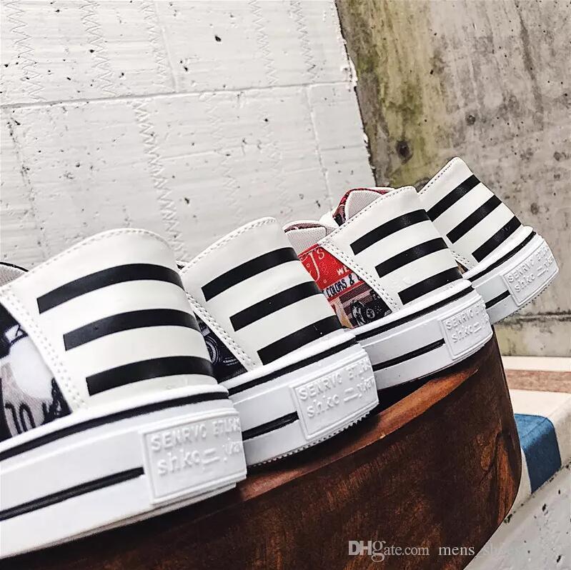 Novos homens chegada mulheres casuais sapatos da moda sapatos rasos Laranja Preto Vermelho Branco dos homens do desenhista das sapatas das mulheres