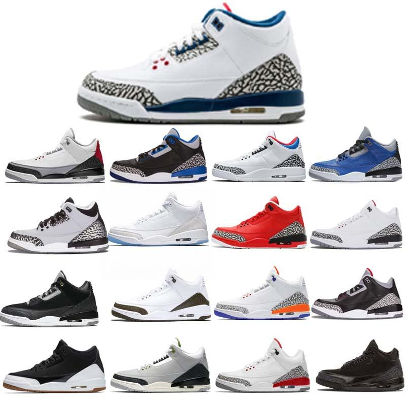 3s Black White Cement Tinker 3 Cat Bred Concord UNC Jumpman III Men Women Basketball Shoes Seoul Korea Sports Sneakers