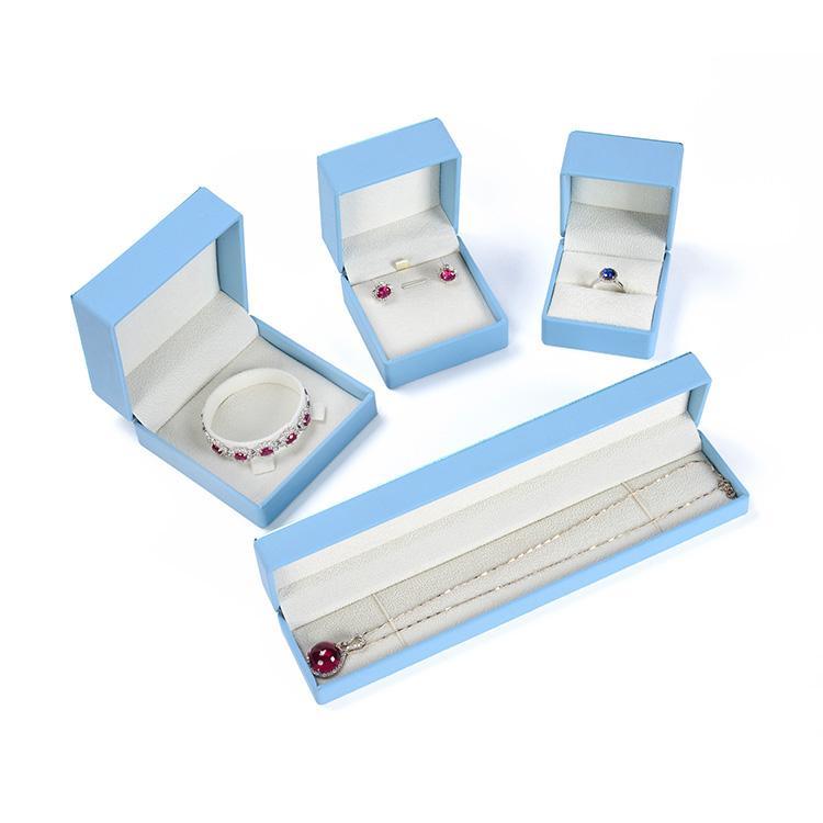 السماء الزرقاء طباعة PU الجلود claimond الأوردة شعار مخصص المجوهرات هدية مربع مجموعات