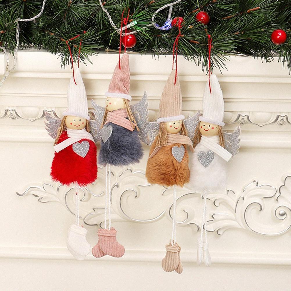 4pcs Set Ange Doll Pendentif Arbre de Noël Décoration pour la maison de Noël Kids Party Cadeau Chambre Décoration pour la maison 2019 Cadeaux Enfants Ks3D #