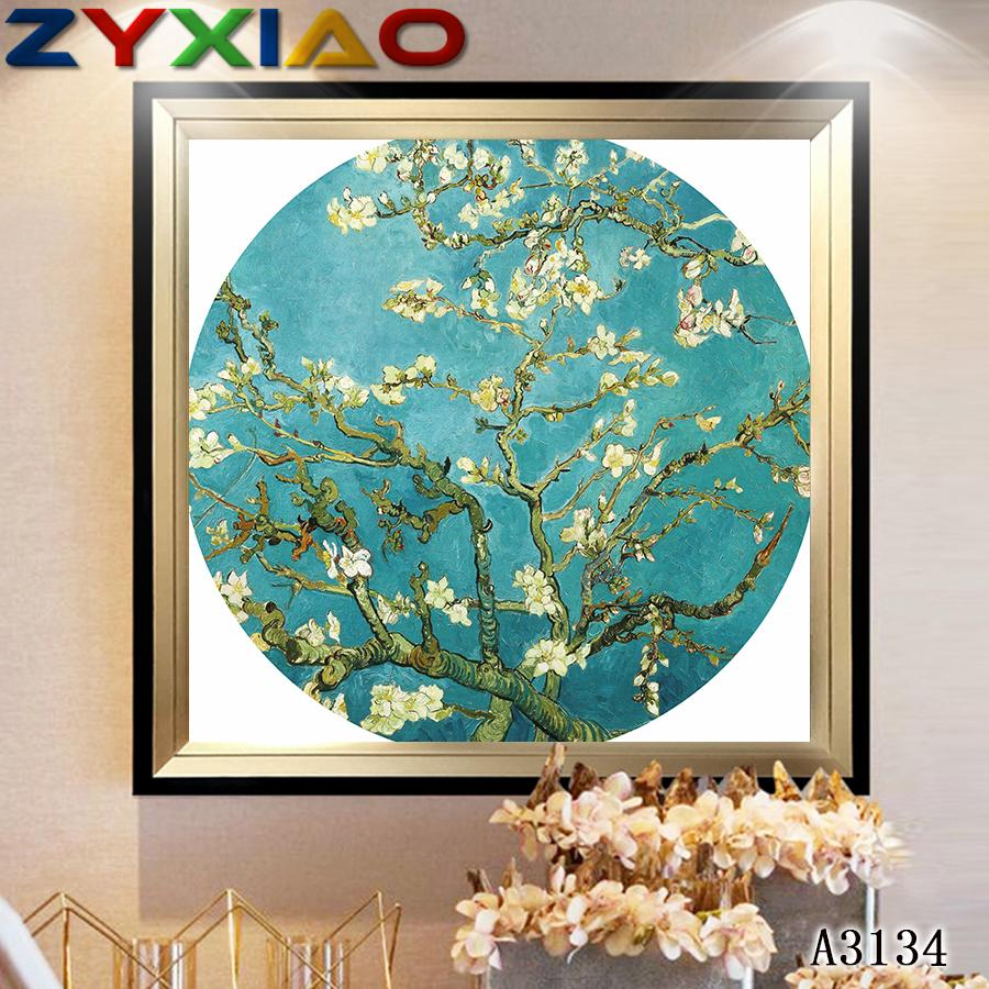 ZYXIAO Poster and Print Performing flower Plum blossom modern Oil Painting Canvas No Frame Wall Pictures for Living Room Home Decor A3134