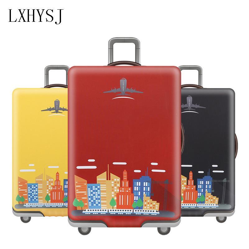LXHYSJ Voyage bagages Couverture élastique bagages La housse protectrice pour 18-32 pouces Valise Bagages Case Cover Accessoires Voyage T200710