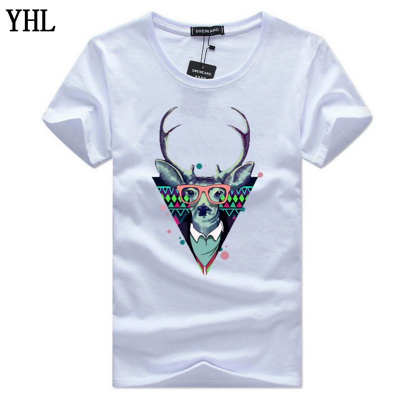 t shirt uomo Lettera del fumetto stampato maglietta casuale degli uomini maglietta superiore di marca maglietta in cotone di qualità della camicia uomini TAGLIA 5XL C-2