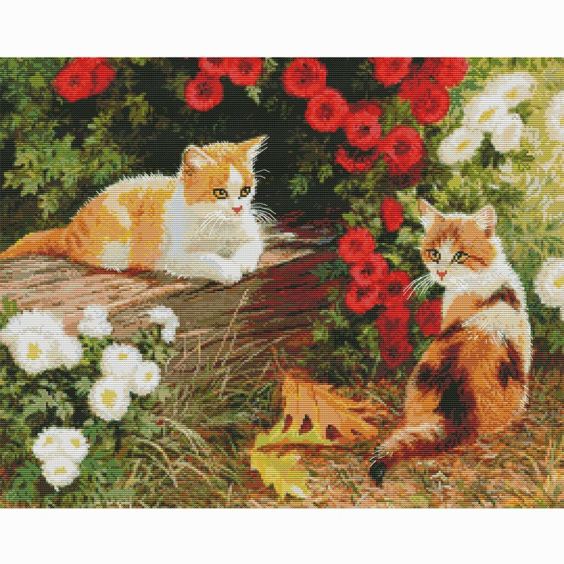 Factory wholesale selling cross stitch sampler pattern handwerken beginner embroidery kit aida fabric canvas painting needlework wall decor