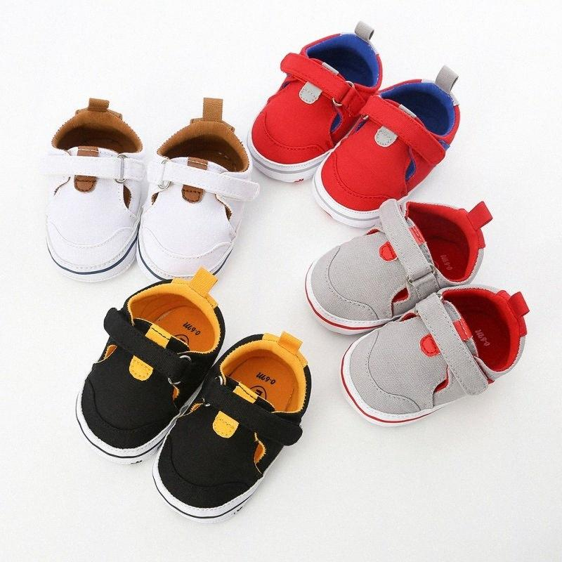 Automne Bébé Garçons Filles Patchwork Anti Slip Chaussures Sneakers enfant en bas âge semelle souple Premier marchettes pour bébés Souliers d'enfants O Chaussures de tennis sur Sa iDLX #