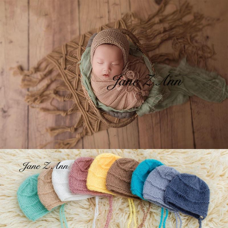 Jane Z Ann Newborn fotografia puntelli cappello dei bambini in studio cappello di tiro maglieria a mano fotografia morbida vestiti
