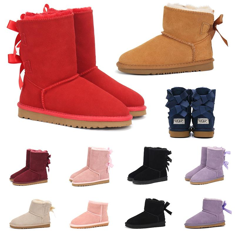 2020 BOOTS for woman australian platform fur designer luxury shoes knee high ankle snow winter boots lady girls womens trainers sneakers