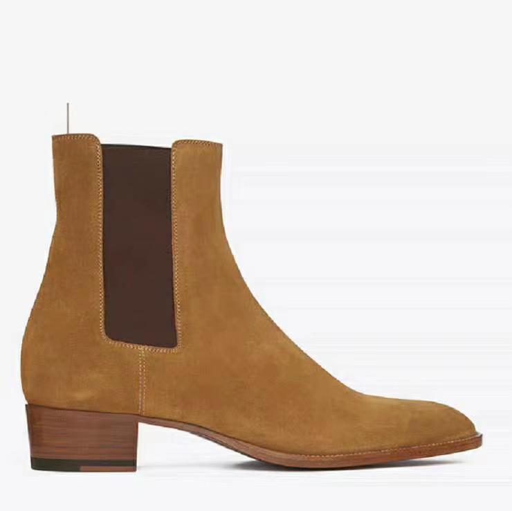 2020 حار العصرية الأزياء الكلاسيكية أسود أصفر أحذية جلد البقر بلوري الرجال الغربيين فارس مارتن أحذية حجم كبير 38-47