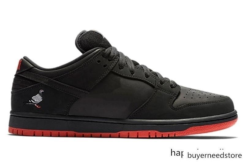 Dunk SB Düşük TRD QS Siyah Güvercin Dove Barış A F 1 Ayakkabı Limited Yayım Açık