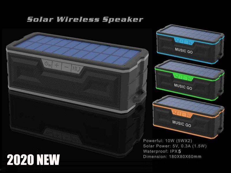 2021 Güneş Bluetooth Hoparlör, Taşınabilir Bluetooths Hoparlörler Stereo Subwoofer, IPX5 Su Geçirmez Kablosuz, İç ve Açık İçin Uygun