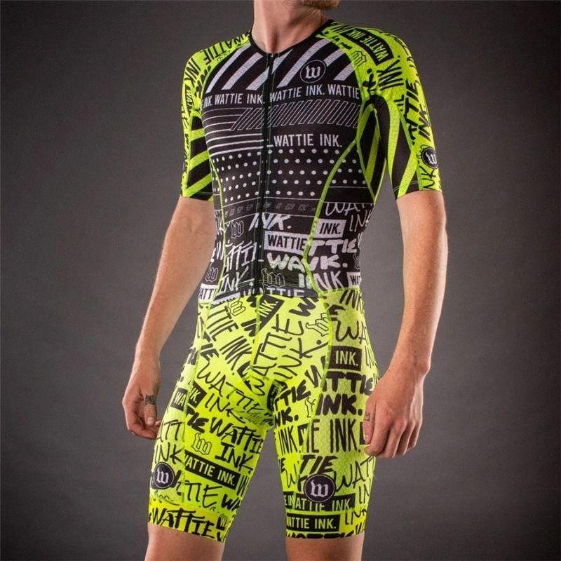 Wattie 2020 Ciclismo Skinsuit Triathlon Speedsuit Trisuit Bike manica corta Maillot biciclette da corsa Abbigliamento Ropa ciclismo hombre MYi1 #