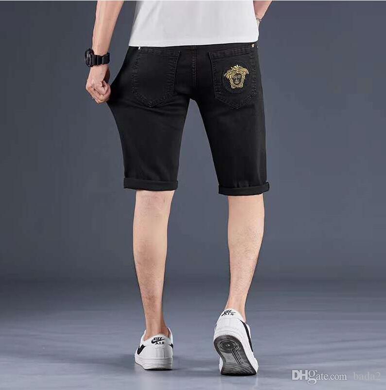 Neue Mens-Bleistift-Hosen 2019 Fashion Men Casual Slim Fit Gerade Stretch Feet dünne Zipper Jeans für Männer heißen Verkaufs-Hosen