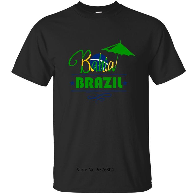Imprimir Brasil Bahia camiseta para los hombres camiseta camiseta para hombre ropa de cuello redondo Tamaño de fitness Homme Plus 3XL 4XL 5XL 2020 Hip Hop