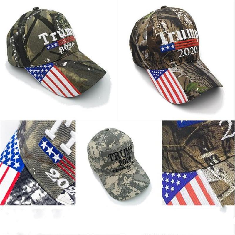 Başkan Donald Trump Beyzbol Şapkası Şapka Kamuflaj ABD Bayrağı Futbol Ayarlanabilir Moda Doğa Sporları Caps 3D Nakış Snapback Caps