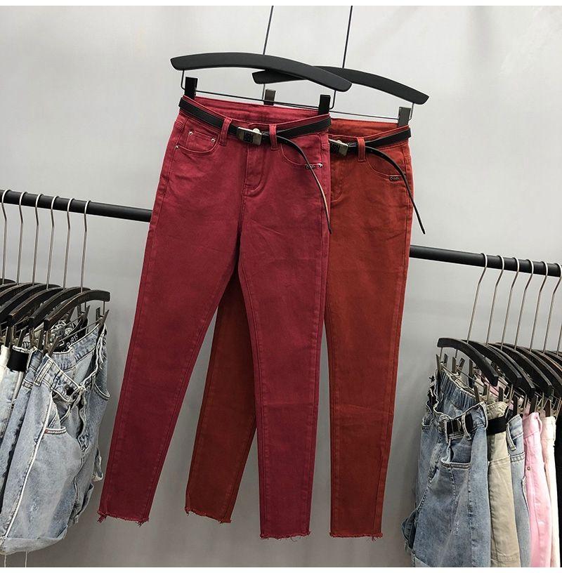 Эластичные Sexy Тощий Карандаш Джинсы шлифа Denim Брюки женские леггинсы джинсы завышенной талией Джинсы женские W26-W31
