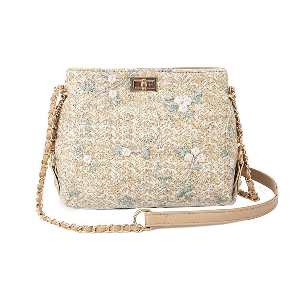 Tela della borsa delle donne di estate Ragazza della spiaggia Lace Embroid paglia Benna sacchetto di tela ruvida Flap Bag Messenger Bag di nuovo modo di trasporto di goccia 07