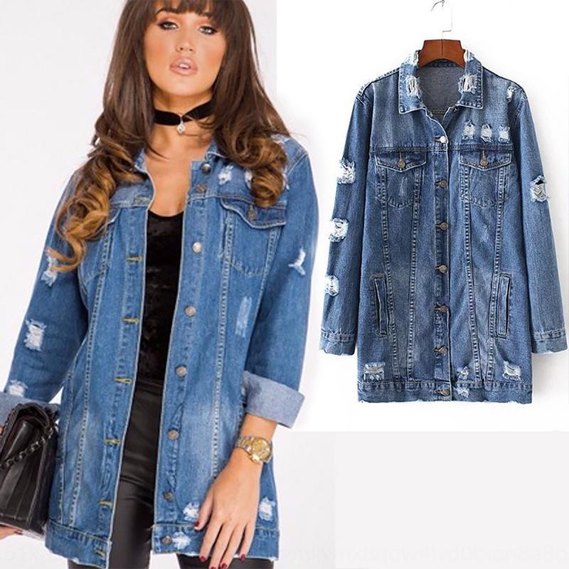 dril de algodón de manga larga de mezclilla de las mujeres casuales de manga larga chaqueta de jacketwomen chaqueta informal