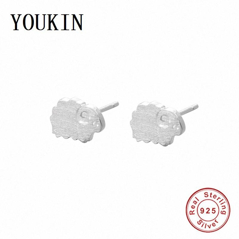 New Arrival 925 Sterling Silver Lovely Sheep Stud Earrings Jewelry for Women Earrings Cute Animal Earring Fashion Berloque Gifts cNoV#