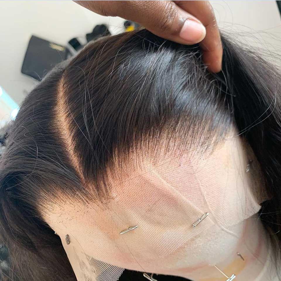 13x6 HD 투명 레이스 정면 가발 Glueless Bob 가발 스트레이트 레이스 프론트 가발 인간의 머리카락 Pre Plucked Remy Brailian Hair 가발