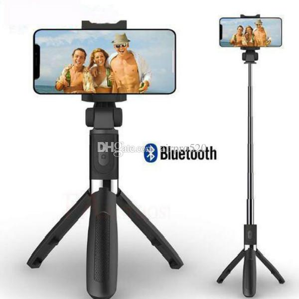 3 in 1 drahtlosem Bluetooth Selfie Stock für iPhone 8 x 7 6s Plus-faltbare Hand Einbeinstativ Auslöser Fernbedienung Erweiterbare Mini-Stativ